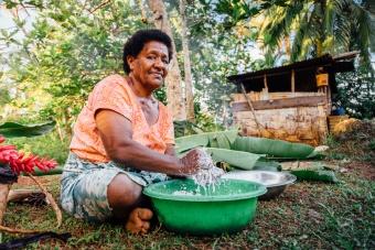 Préparation du lait de coco
