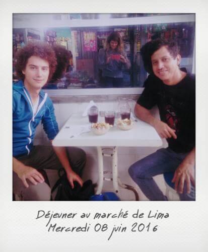 Déjeuner au marché de Lima