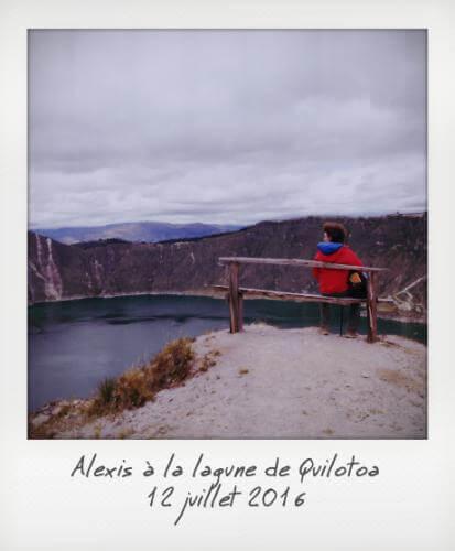 Alexis à la lagune de Quilotoa