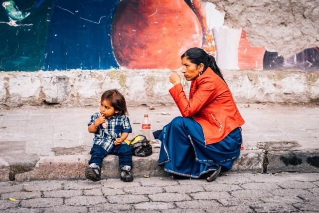 Mère et fils à Cotacachi