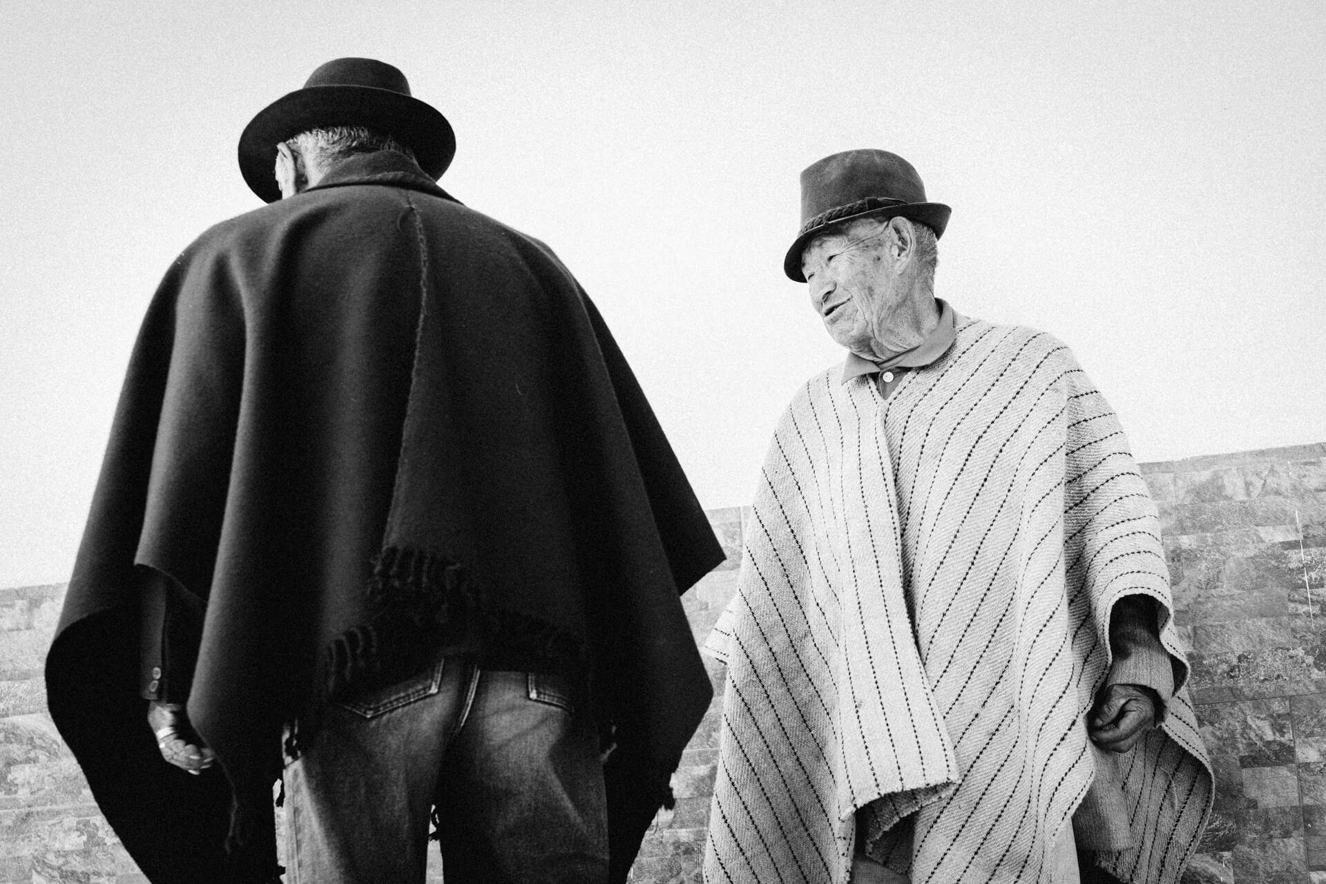hommes au marché de Cajabamba