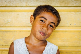 Portrait petite fille fidjienne