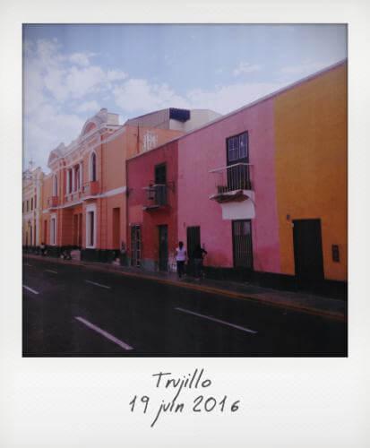 Trujillo façades colorées
