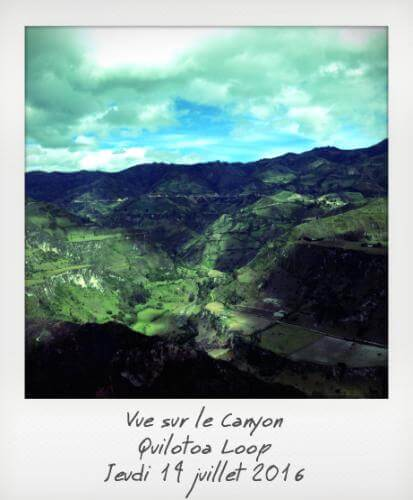 Vue sur la canyon Quilotoa Loop