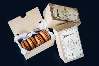 Production de macarons et de boites Le Goûter, Dulces de Francia