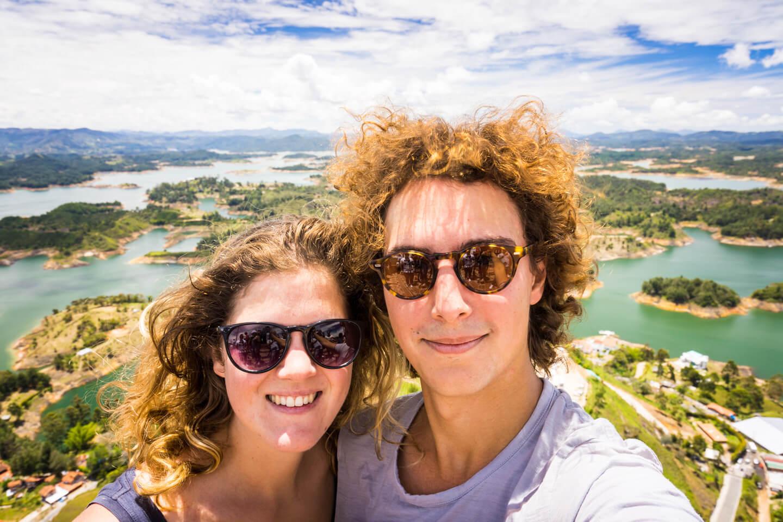 Nous au lac de guatapé