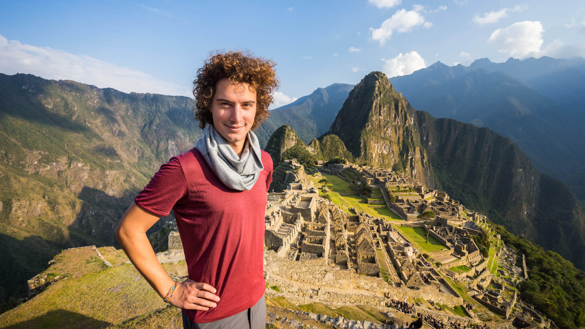 Alexis au Macchu Pichu
